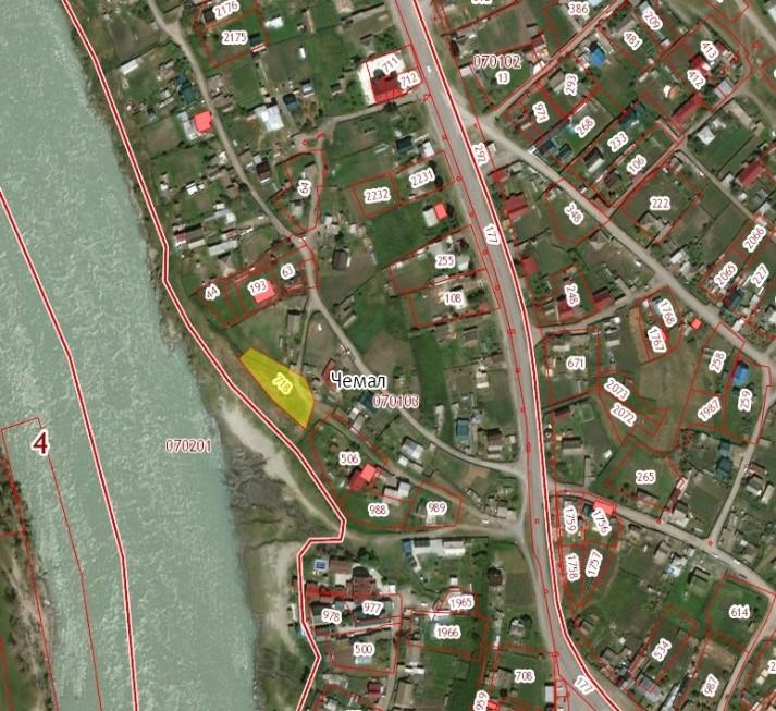 Земельный участок, ИЖС, 13,5 соток в центре с. Чемал