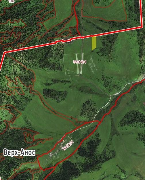 Земельный участок в с. Верх-Анос