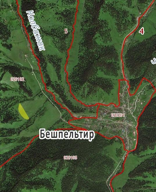 Земельный участок в с. Бешпельтир