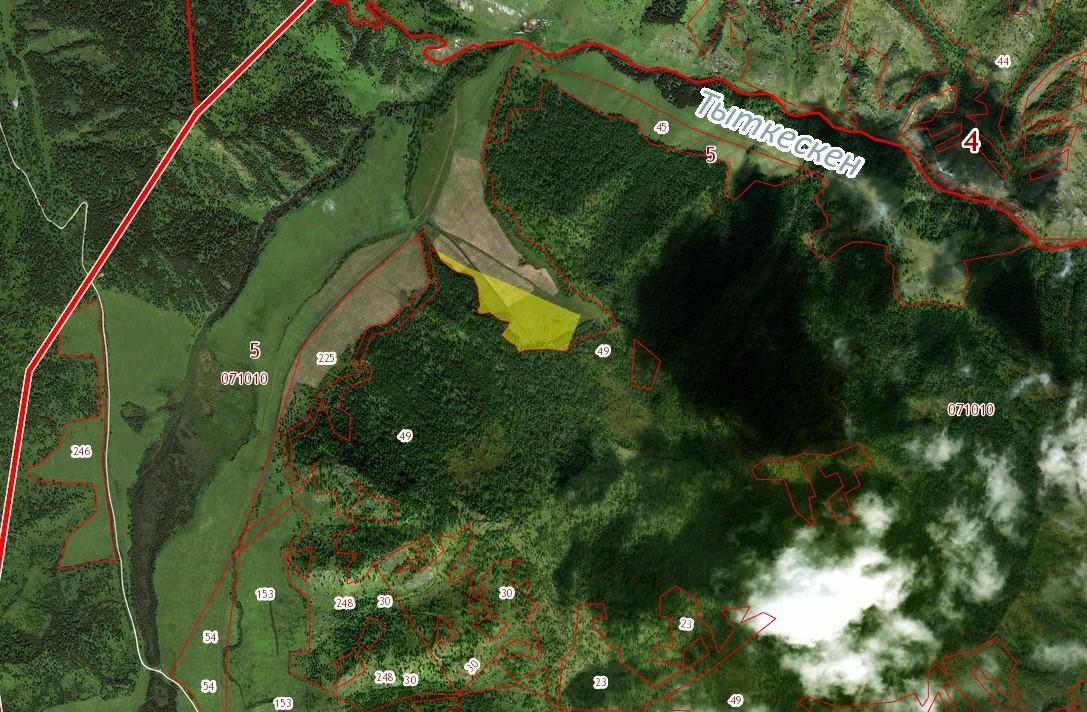 Земельный участок (ЗСН) 17,4 га в урочище Тыткескен