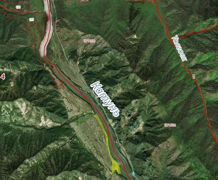 Земельный участок на левом берегу р.Катунь 10,4 га