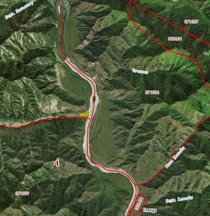 Земельный участок 6,6 га левый берег р.Катунь урочище Усть Апшияхта