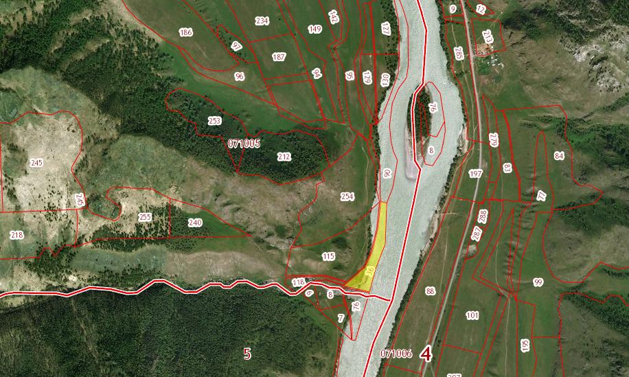 Земельный участок 1,9 га левый берег р.Канунь урочище Усть-Апшияхта