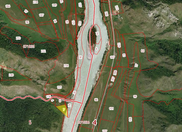 Земельный участок 1,3 га Левый берег р.Катунь примыкает к устью р.Апшияхта с югр